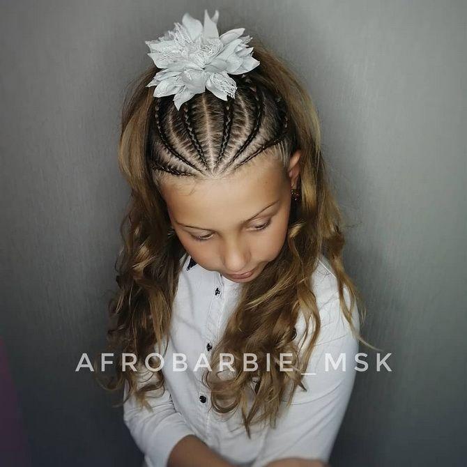 Зачіска з 1 бантом для дівчинки: стильні ідеї на 1 вересня 24