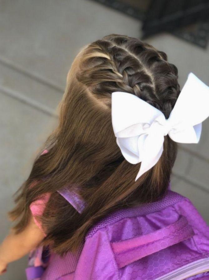Зачіска з 1 бантом для дівчинки: стильні ідеї на 1 вересня 21