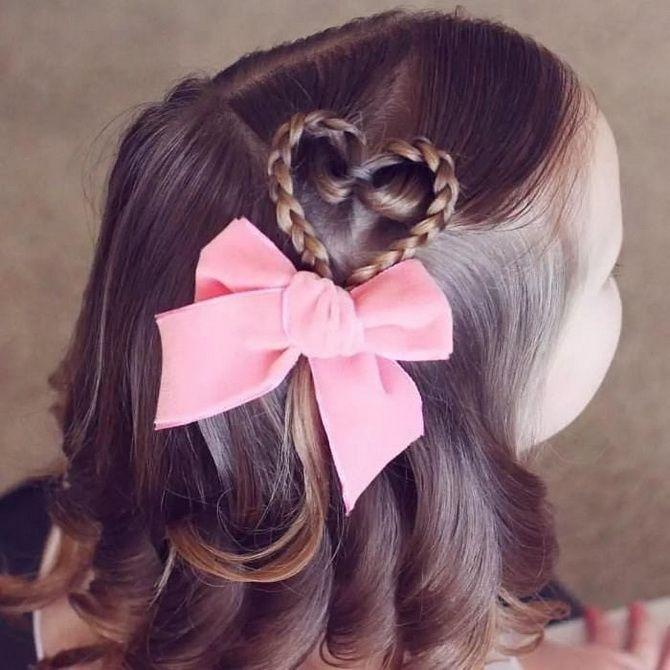 Зачіска з 1 бантом для дівчинки: стильні ідеї на 1 вересня 23