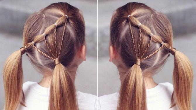 Прості і красиві зачіски дівчинці на 1 вересня 34