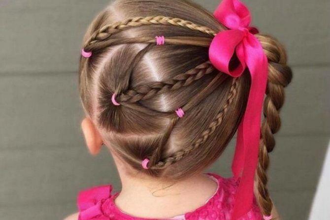 Прості і красиві зачіски дівчинці на 1 вересня 7