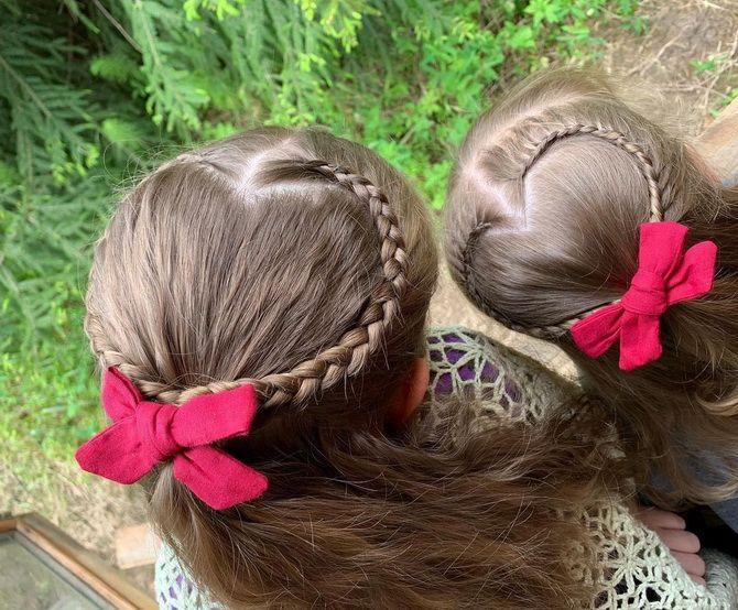 Прическа с 1 бантом для девочки: стильные идеи на 1 сентября 25