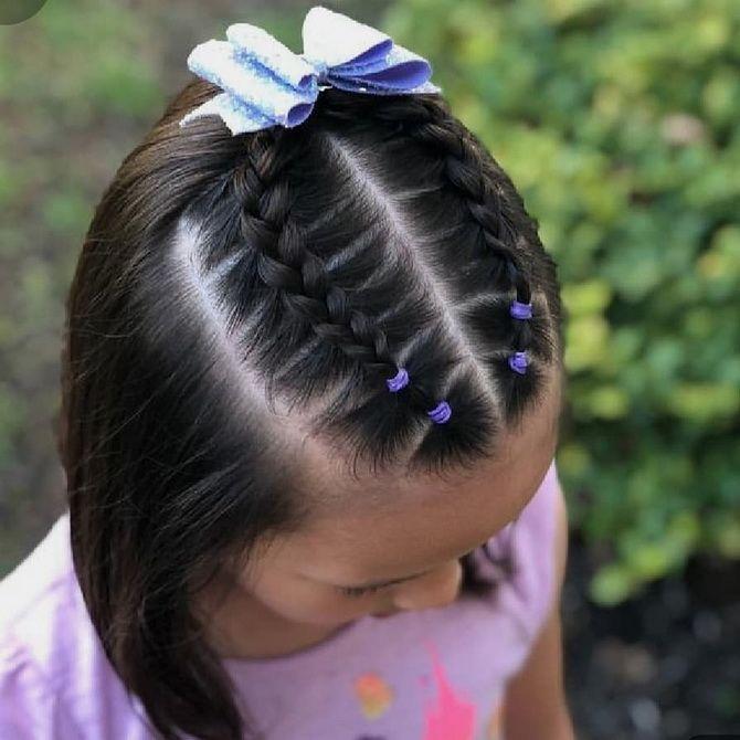 Зачіска з 1 бантом для дівчинки: стильні ідеї на 1 вересня 27