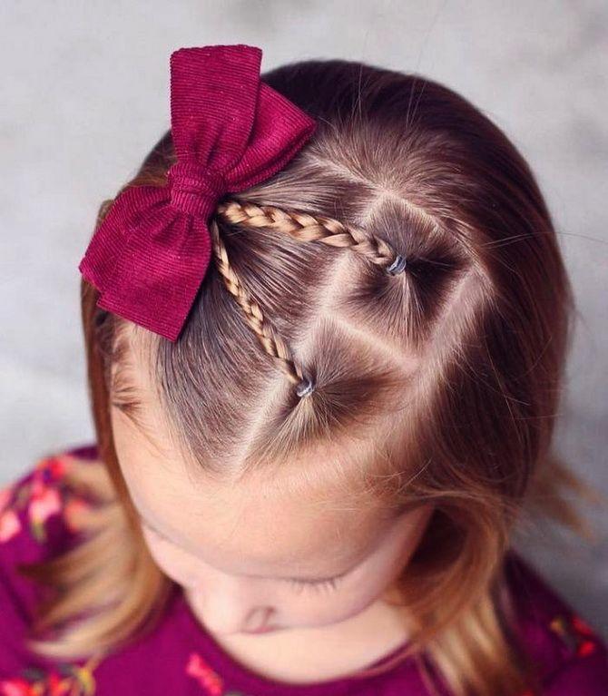 Зачіска з 1 бантом для дівчинки: стильні ідеї на 1 вересня 29
