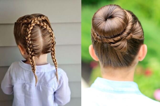 Прості і красиві зачіски в школу за 5 хвилин 1
