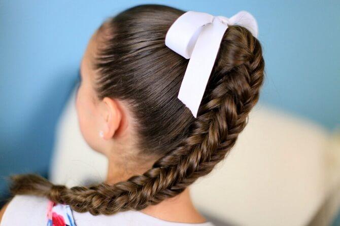 Прості і красиві зачіски в школу за 5 хвилин 14