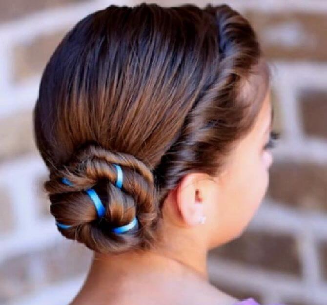 Прості і красиві зачіски в школу за 5 хвилин 19