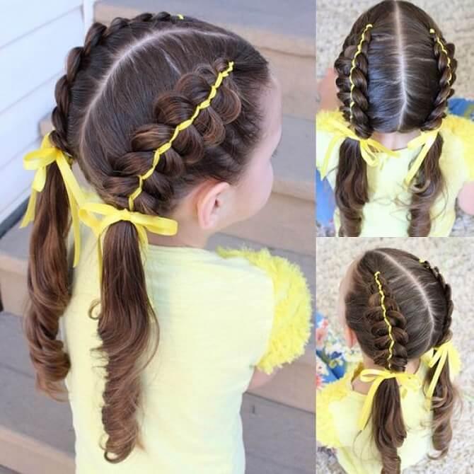 Прості і красиві зачіски в школу за 5 хвилин 27