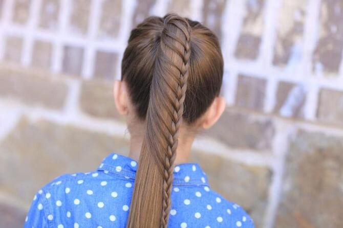 Прості і красиві зачіски в школу за 5 хвилин 7