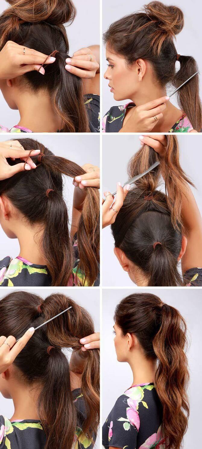 Прості і красиві зачіски в школу за 5 хвилин 9