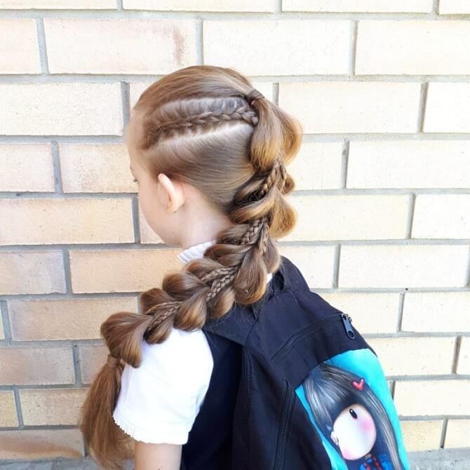Прості і красиві зачіски в школу за 5 хвилин 12