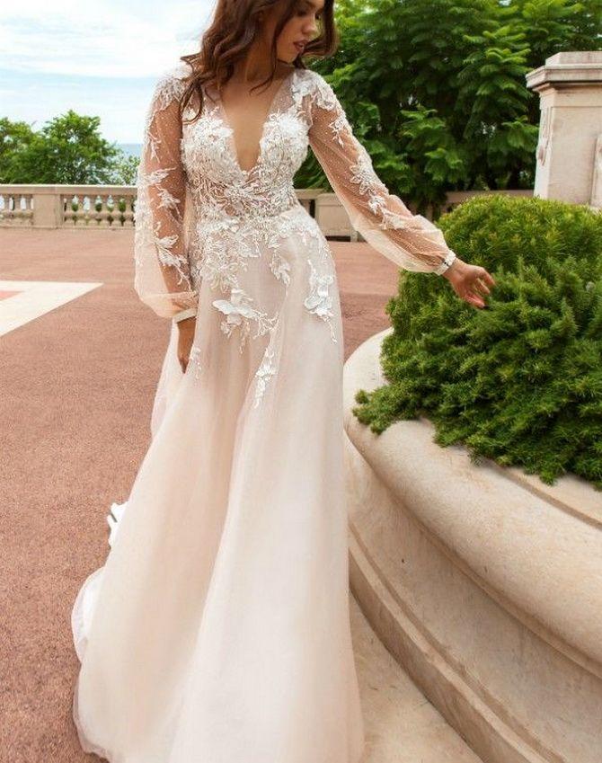 Цвета свадебных платьев 2021: основные тренды 20