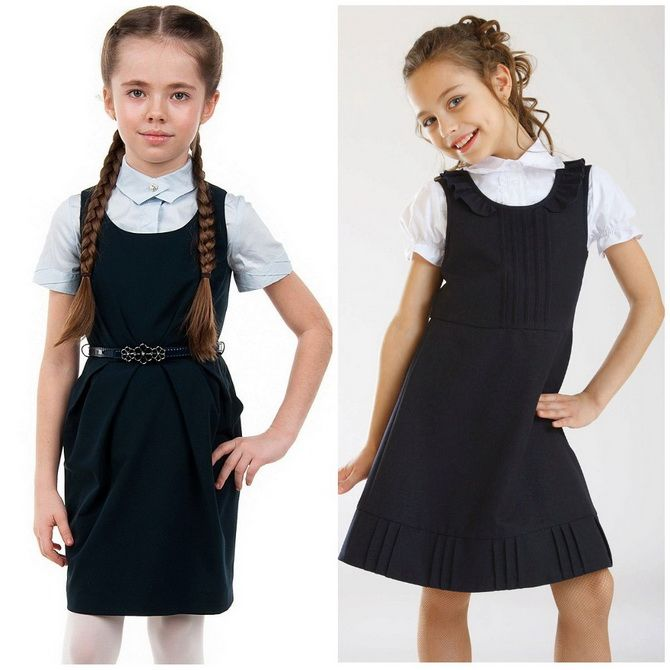 Модні шкільні сарафани для дівчаток: який обрати у 2021-2022 році 11
