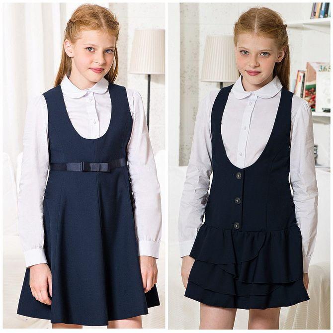 Модні шкільні сарафани для дівчаток: який обрати у 2021-2022 році 12