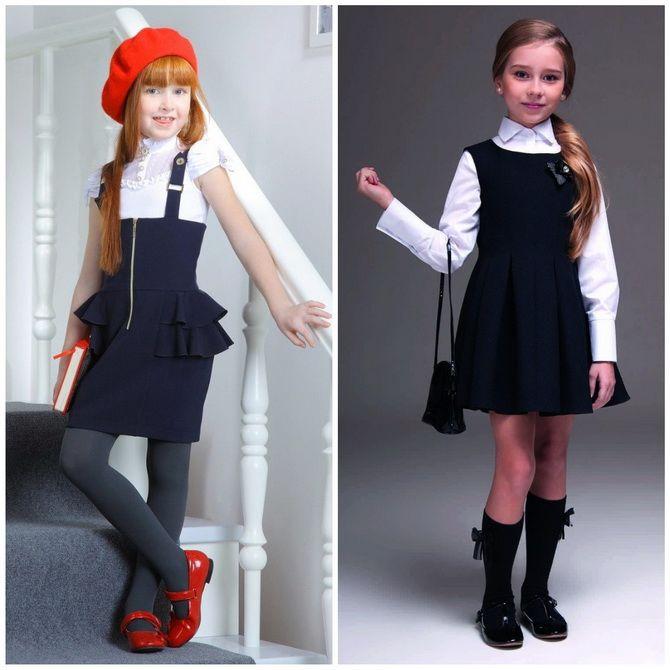 Модні шкільні сарафани для дівчаток: який обрати у 2021-2022 році 13