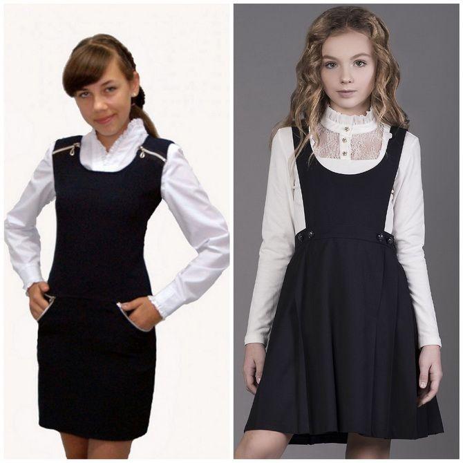 Модні шкільні сарафани для дівчаток: який обрати у 2021-2022 році 14