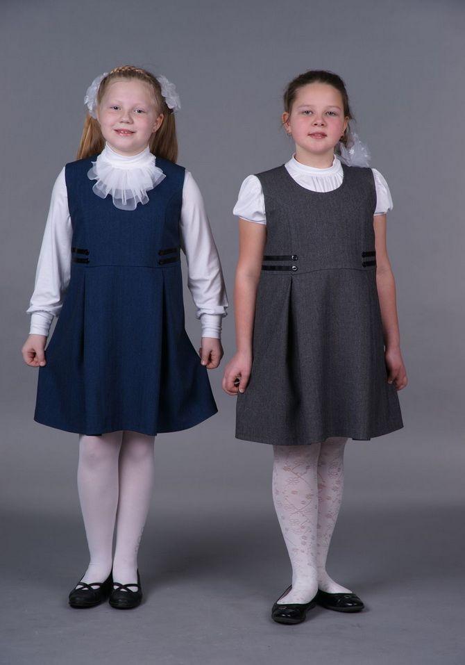 Модні шкільні сарафани для дівчаток: який обрати у 2021-2022 році 15