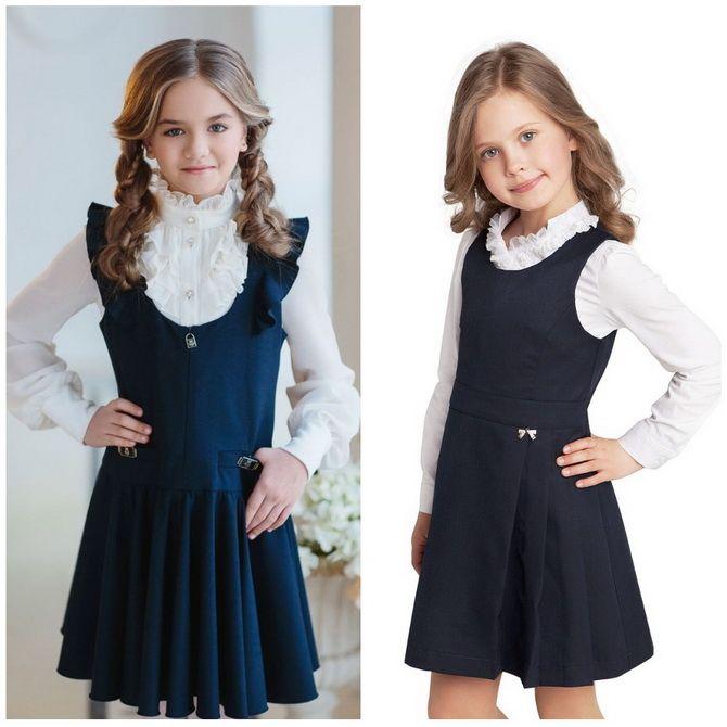 Модні шкільні сарафани для дівчаток: який обрати у 2021-2022 році 4