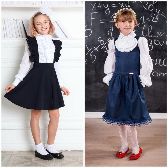 Модні шкільні сарафани для дівчаток: який обрати у 2021-2022 році 5
