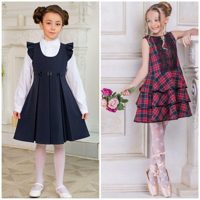 Модні шкільні сарафани для дівчаток: який обрати у 2021-2022 році 6