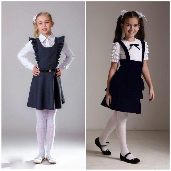Модні шкільні сарафани для дівчаток: який обрати у 2021-2022 році 8