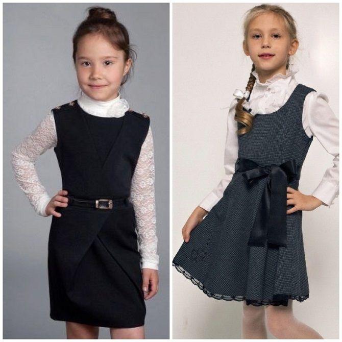 Модні шкільні сарафани для дівчаток: який обрати у 2021-2022 році 9