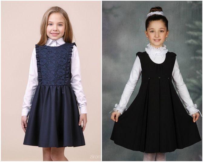 Модная школьная форма для девочек: стильные фото 2020-2021 года 1
