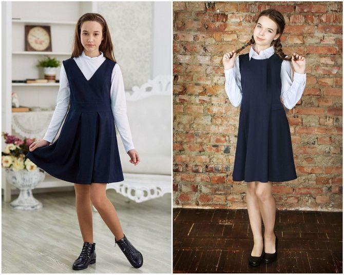 Модная школьная форма для девочек: стильные фото 2020-2021 года 10