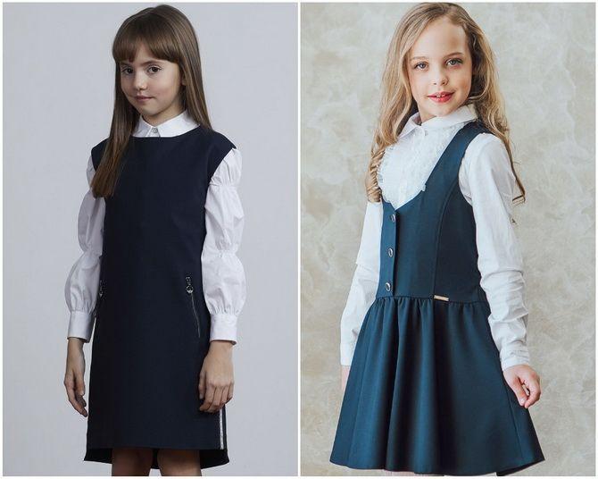 Модная школьная форма для девочек: стильные фото 2020-2021 года 11