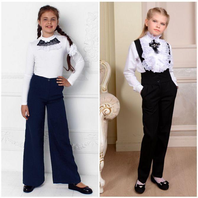 Модная школьная форма для девочек: стильные фото 2020-2021 года 13