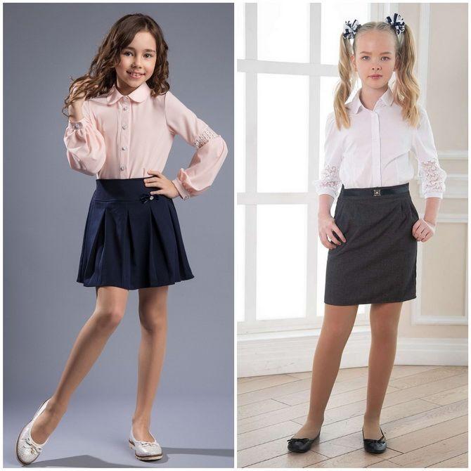 Модная школьная форма для девочек: стильные фото 2020-2021 года 14