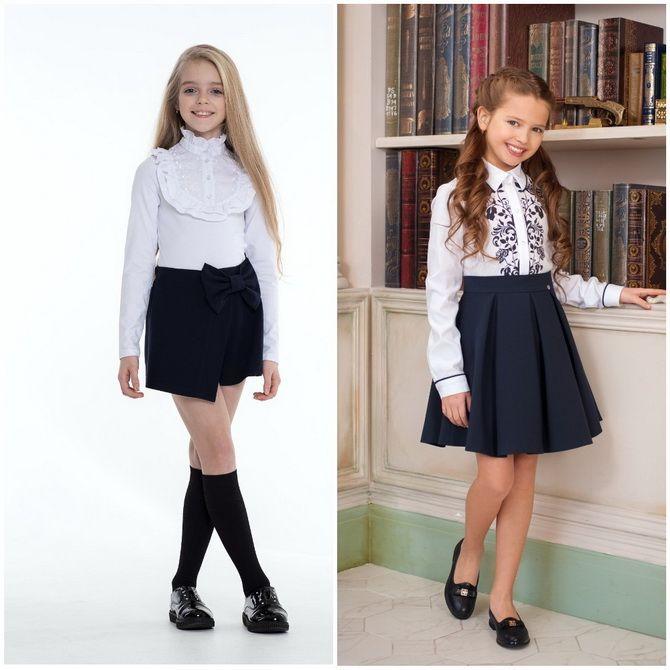 Модная школьная форма для девочек: стильные фото 2020-2021 года 15