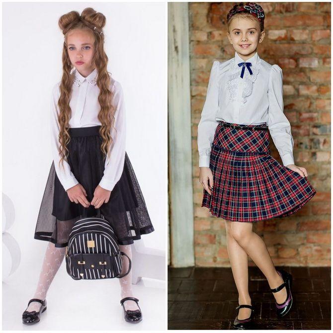 Модная школьная форма для девочек: стильные фото 2020-2021 года 16
