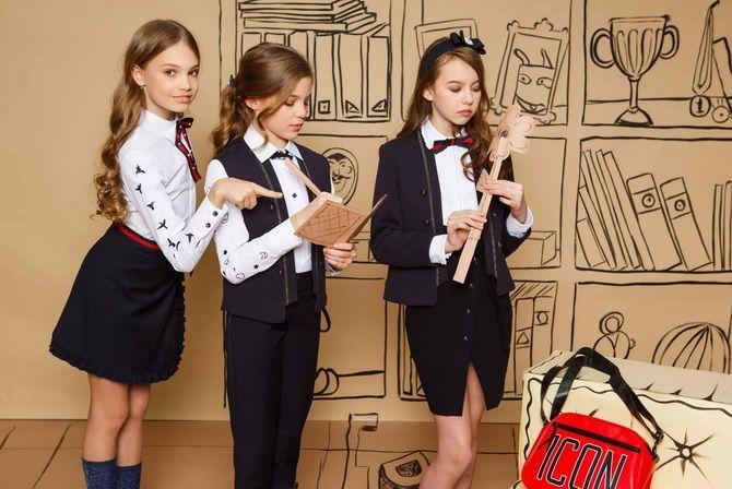 Модная школьная форма для девочек: стильные фото 2020-2021 года 21