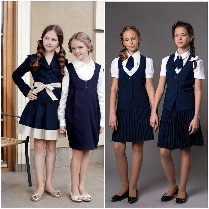 Модная школьная форма для девочек: стильные фото 2020-2021 года 22