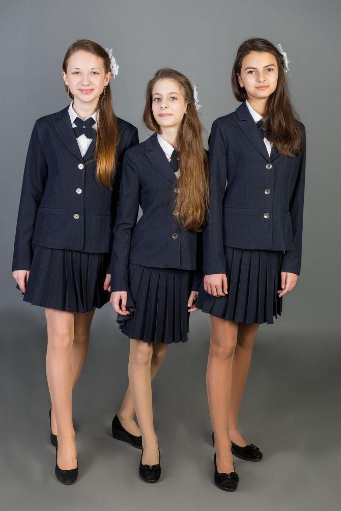 Модная школьная форма для девочек: стильные фото 2020-2021 года 23