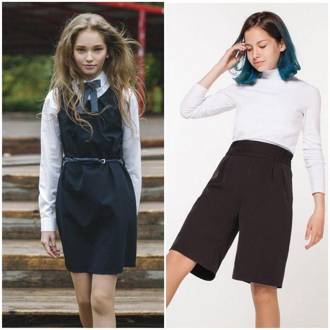 Модная школьная форма для девочек: стильные фото 2020-2021 года 24