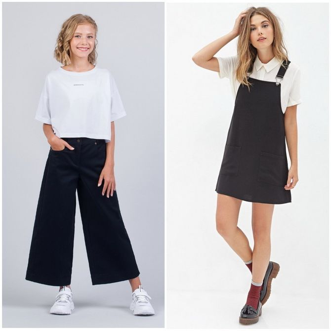 Модная школьная форма для девочек: стильные фото 2020-2021 года 25