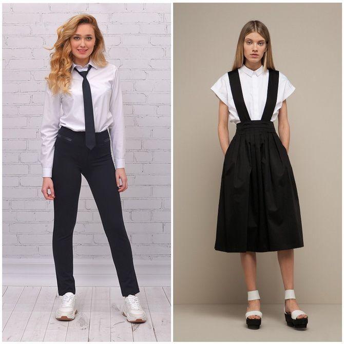 Модная школьная форма для девочек: стильные фото 2020-2021 года 26