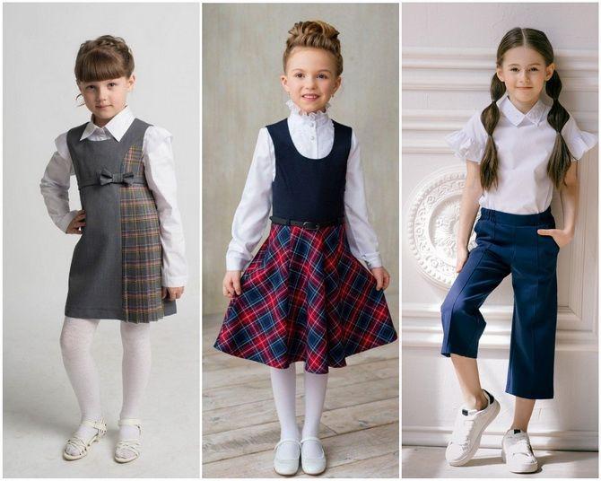 Модная школьная форма для девочек: стильные фото 2020-2021 года 3