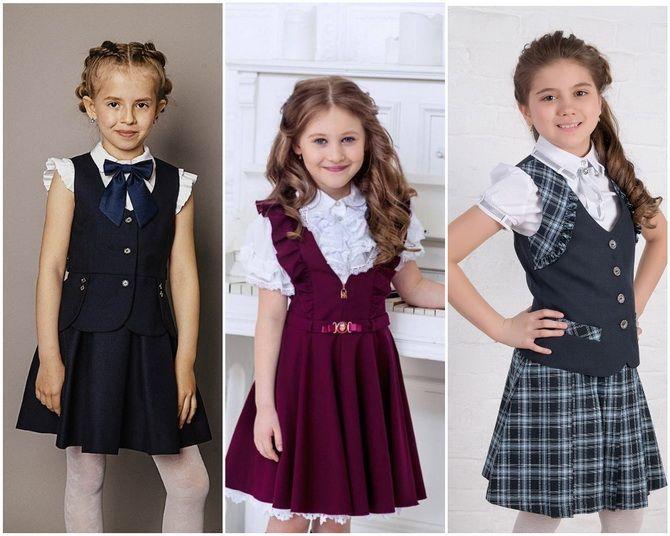 Модная школьная форма для девочек: стильные фото 2020-2021 года 4