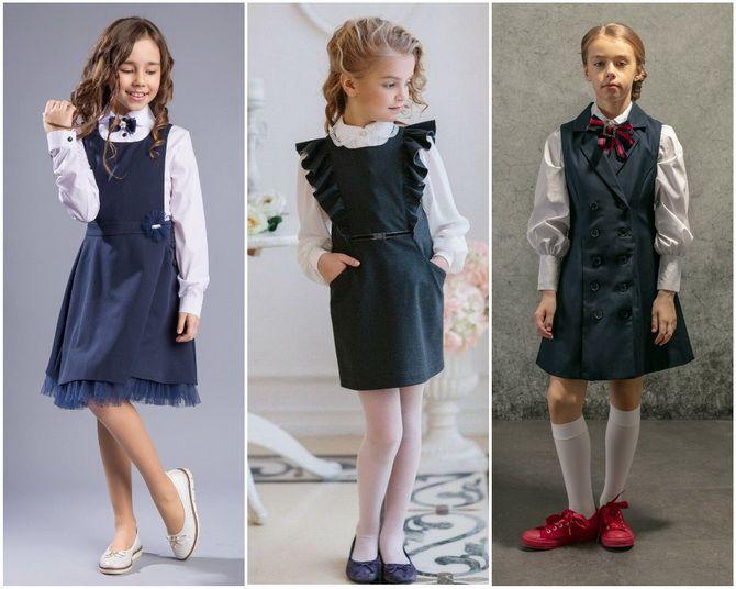 Модная школьная форма для девочек: стильные фото 2020-2021 года 7