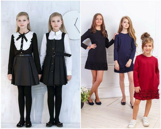 Модная школьная форма для девочек: стильные фото 2020-2021 года 8