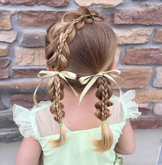 Красиві і прості зачіски в школу на середнє волосся: кращі ідеї на кожен день 3