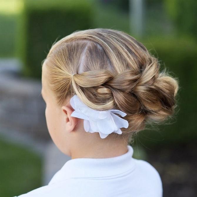 Красиві і прості зачіски в школу на середнє волосся: кращі ідеї на кожен день 1