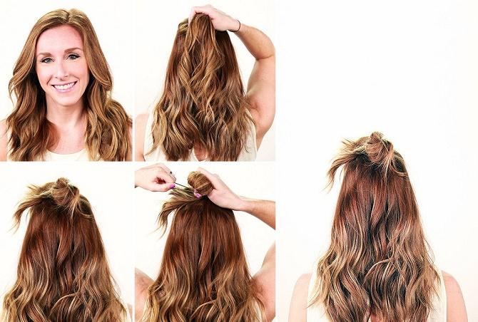Красивые прически на 1 сентября с распущенными волосами для девочек 27