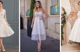 Короткие свадебные платья 2020-2021