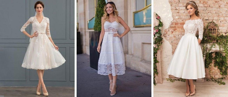Короткие свадебные платья 2021-2022