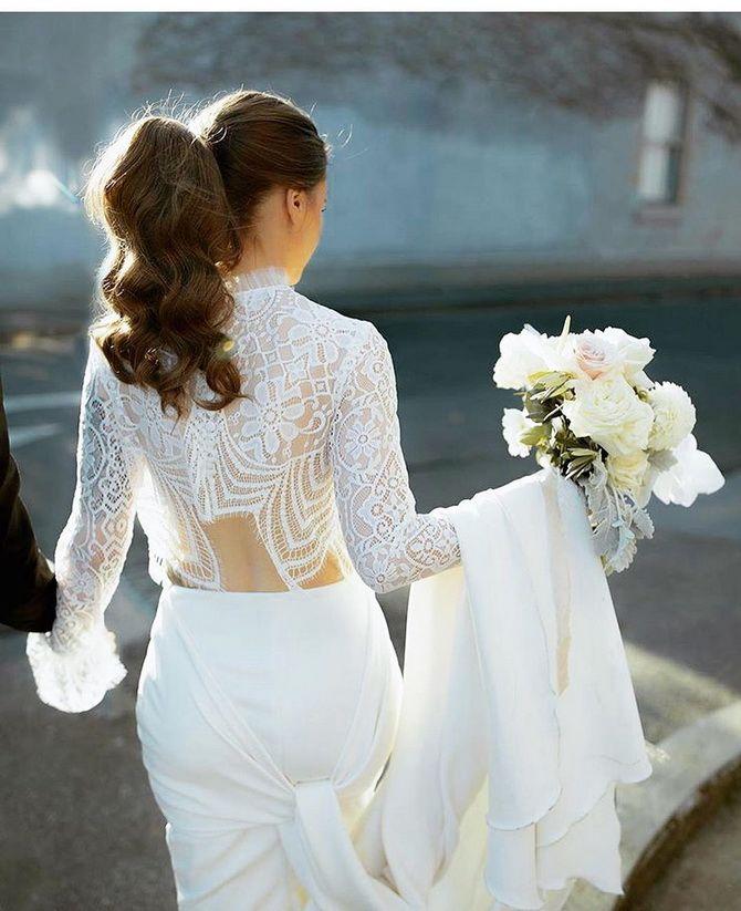 Свадебные прически 2021: шикарные идеи для торжества 25