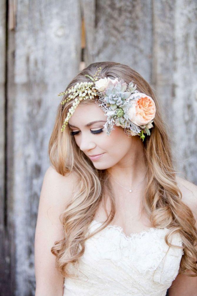 Свадебные прически 2021: шикарные идеи для торжества 33